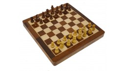 "12"" Magnetic chess set in blue box"