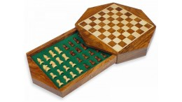 Travel Magnetic Chess Set 9' Octagonal shape