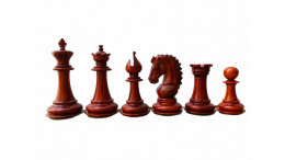 "Adventure Staunton wooden chess pieces 3.75"" Budrosewood"