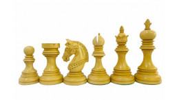 "The Glenvet Knight Budrosewood 4.2"" Luxury wooden Chess pieces"