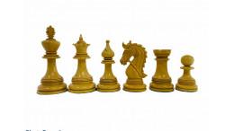 "Napolian staunton 4.3"" Ebony Wood Luxury Chess Pieces"