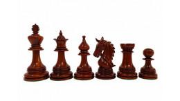 "Napolian staunton 4.3"" Budrosewood(Padauk) Wood Luxury Chess Pieces"