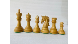 New Imperial Ebony wood 3.75' Chess Pieces