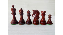 New Imperial Red wood 3.75' Chess Pieces