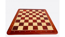"Wooden Chess Board Blood Red Bud Rosewood(Padauk) 23"" 60mm Algebriac Notation"