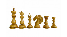 "Bellagio Series Premium Staunton 4.4"" Padouk and Box Wood Chessmen"