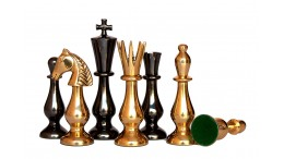 BRASS CHESS COLLECTOR 3.5""