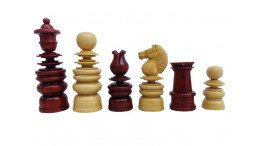 """4.3""""Calvert Staunton Chess Pieces Only set - Bud Rosewood & Boxwood- Heavily Weighted"""