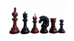 "Camelot Staunton 4.5"" Ebony wood/Redwood Luxury Chess pieces"