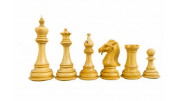 "Cameratta Staunton Luxury Wooden Chess Pieces in Budrosewood(Padauk) 4.75"""