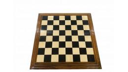 "Centurian Ebony Wood Chess Board 21"" 50 mm square"