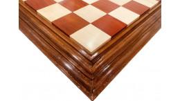 "Centurian Redwood(African Padauk)Wood Chess Board 21"" 50 mm square"