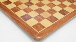 Chess Board Wooden Sheesham Golden Brown Wood 17""