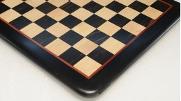 """Wooden Chess Board Genuine Ebony Wood with Red outer line 23"""""""