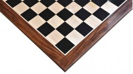 EBONY SHEESHAM WOOD CHESS BOARD 23″