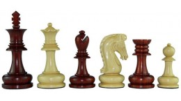 """DRAGON CHESS 4"""" RED WOOD"""