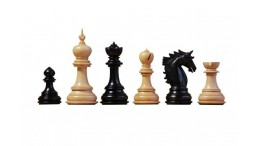 The Dubliner Ebony Chess Men 4.7 inches