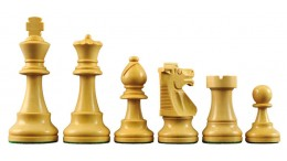Super French Wood Chess Pieces with 3 3/4
