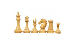 """Haunting Staunton Wooden Rosewood Chess Pieces 4""""DQ Heavy Weighted"""