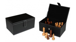 LEATHERETE CHESS STORAGE BOX