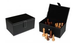 LEATHERETE CHESS STORAGE BOX