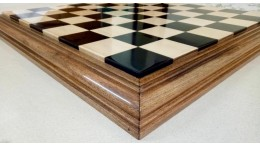 "21"" Luxury Chess Board Ebony Box Wood  56 mm squares"