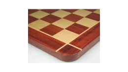 "23"" Wooden Chess Board  Red Bud Rose Wood  - 60 mm"