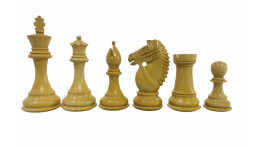 """Rio Staunton Chess Pieces are weighted pieces 4"""" Sheesham wood and Boxwood"""