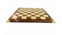 "Signature wooden carved chess board 21"" 55 mm"