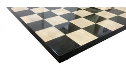 SLEEK EBONY WOOD CHESS BOARD 19""