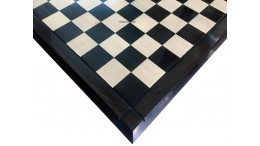 Luxury Taper Chess Board Ebony Wood 21""
