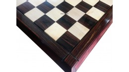 LUXURY TAPER CHESS BOARD ROSEWOOD 21""