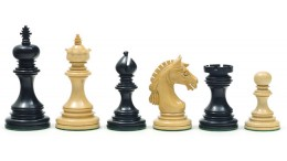 The Garvi Ebony Chessmen 4.25""