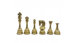 """Zagreb Russian Luxury Metal Chess Pieces 4.3""""Brass and Antique Chess Pieces only"""